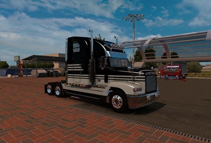 Photo of ATS – Freightliner FLD 120 Blackgrey Skin (1.28.x)