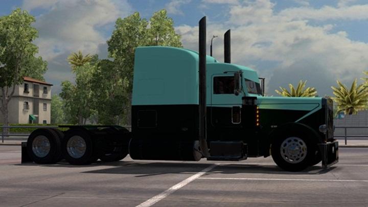 Photo of ATS – Peterbilt 389 Green-Blue Skin (1.28.X)