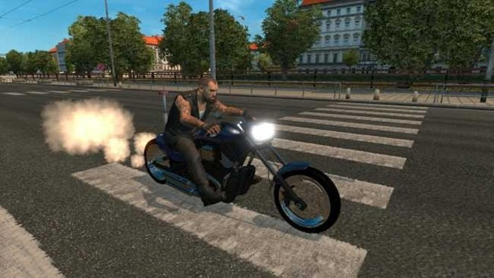 Photo of ETS 2 – Motorcycle Harley Davidson Police IN Traffic Mod (1.28.X)