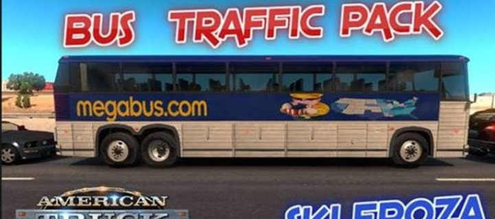 Photo of ATS – Bus Traffic Pack v 1.2 (1.28.X)