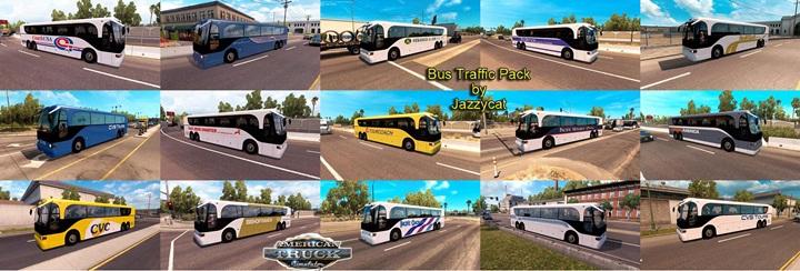 Photo of ATS – Bus Traffic Pack V1.2 (1.28.X)