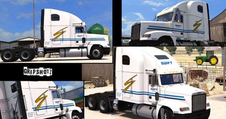Photo of ATS – Freightliner FLD Swift Transportation Skin (1.28.X)