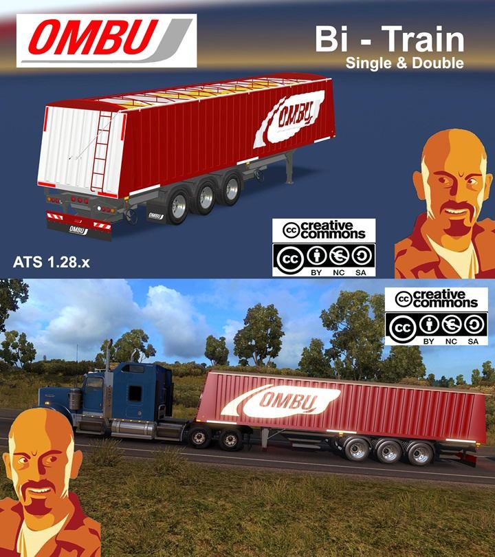 Photo of ATS – Ombu Bi-Train Trailer Single & Double (1.28.X)