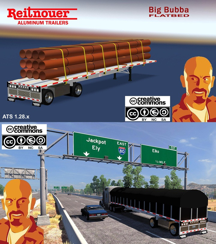 Photo of ATS – Reitnouer Bigbubba Flatbed Trailer (1.28.X)