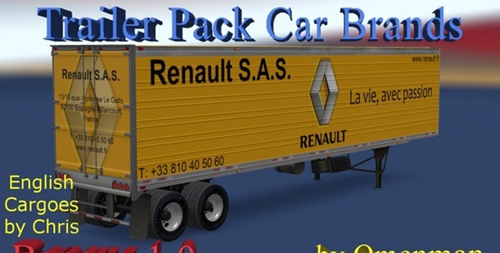 Photo of ATS – Trailer Pack Car Brands v 1.0 English Addon (1.28.X)