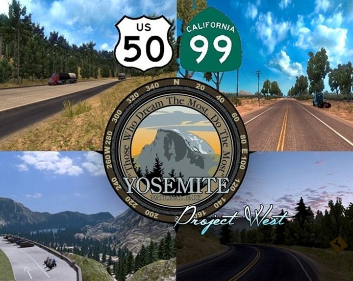 Photo of ATS – US 50 & CA 99 Map v 1.8 (1.28.X)