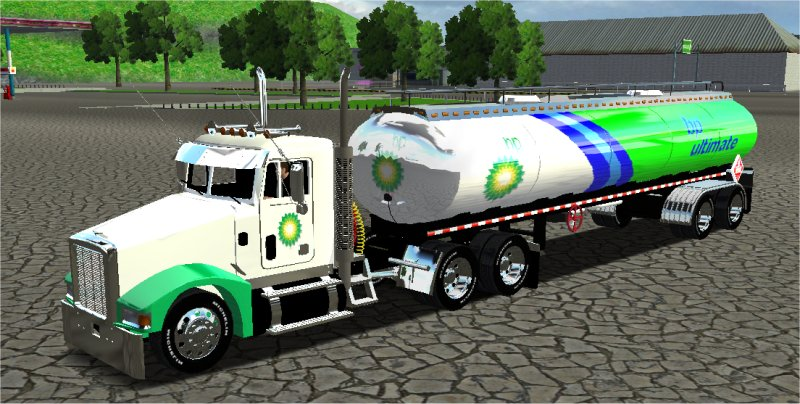 Photo of 18 Wos Haulin – Peterbilt 385 Daycab BP Gasoline