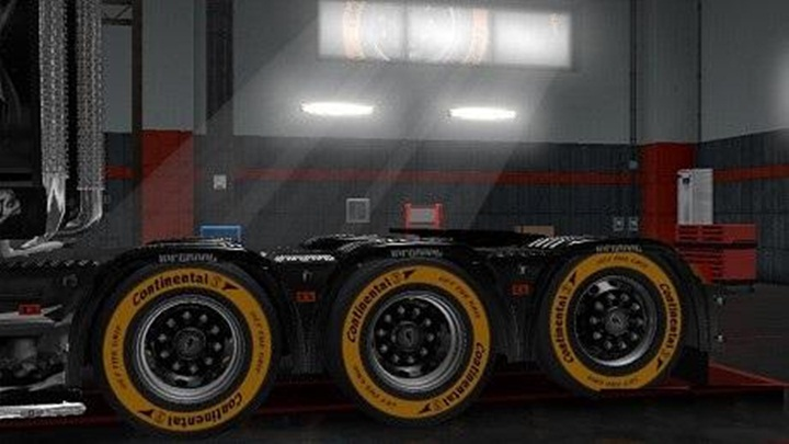 Photo of ETS 2 – Continental Tyre Orange (1.28.X)