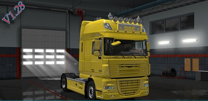 Photo of ETS 2 – Daf XF 105 SCS Base Accessory (1.28.X)