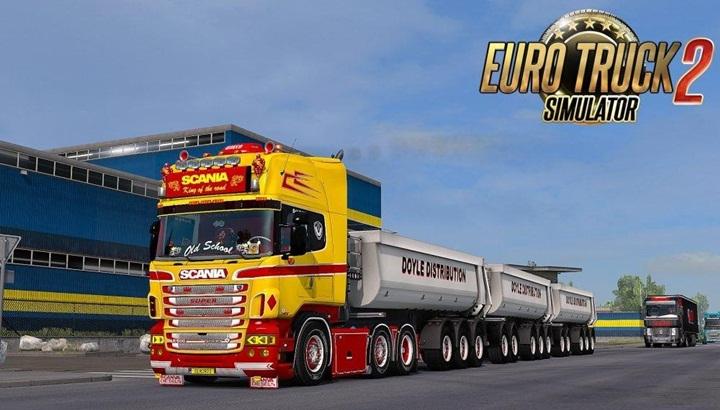 Photo of ETS 2 – Scania RS & T (RJL) Yellow GTM Custom Headlights (1.28.X)