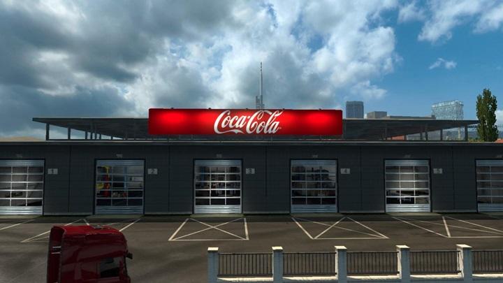 Photo of ETS 2 – Garage Coca Cola Board for Big Garage (1.28.X)