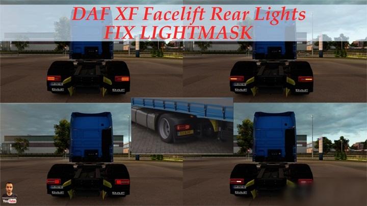 Photo of ETS 2 – DAF XF Facelift Rear Lights Fix Lightmask (1.28.X)
