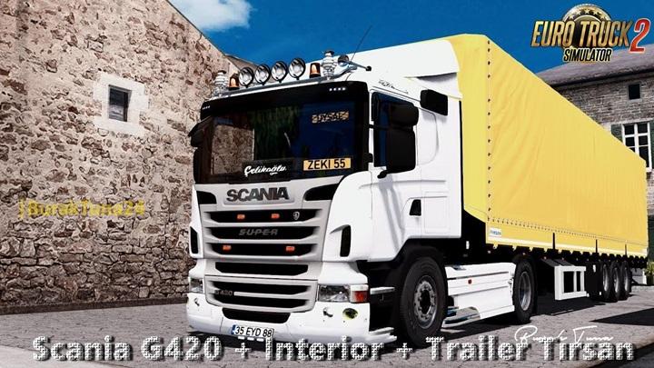 Photo of ETS 2 – Scania G420 + Trailer V4.0 (1.28.X)
