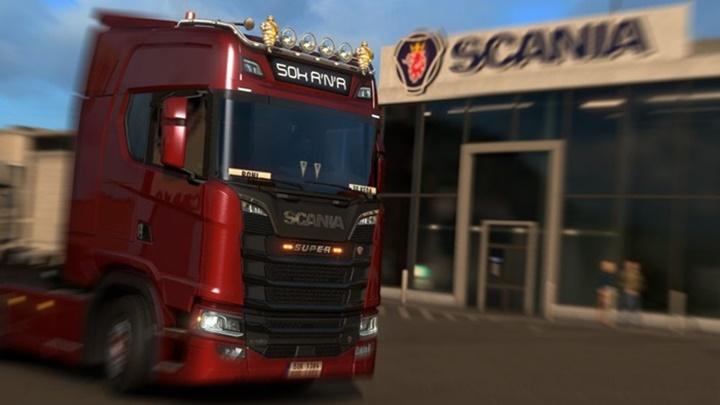Photo of ETS 2 – New Scaniaas Hibars, New Scania Light Box, Hella Led Marker And Super Logo Mod (1.30.X)