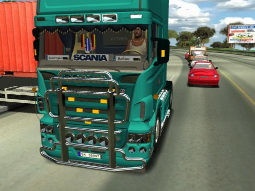 Photo of 18 Wos Haulin – Scania Top Line R620 V8