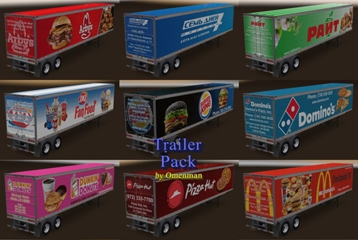 Photo of ATS – Foods Trailer Pack v1.0 (1.29.X)