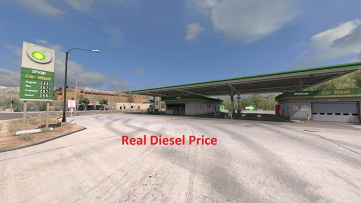 Photo of ATS – Real Diesel Prices ProMods 2.25 & RusMap 1.7.5 (1.29.X)