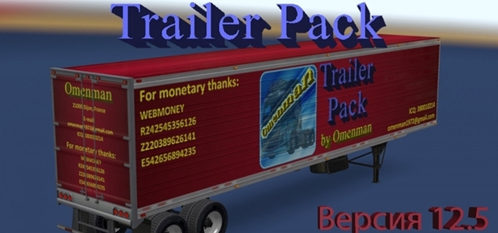 Photo of ATS – Trailer Pack 12.5 – English Addon (1.29.X)