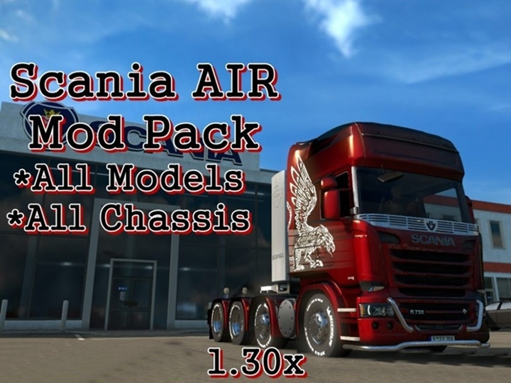 Photo of ETS 2 – Scania AIR Mod Pack (1.30.X)