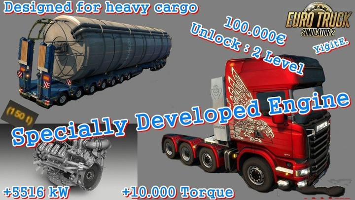 Photo of ETS 2 – Specially Developed Engine Mod (1.30.X)