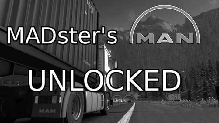 Photo of ETS 2 – Everything Unlocked for MADster's MAN Trucks (1.30.X)