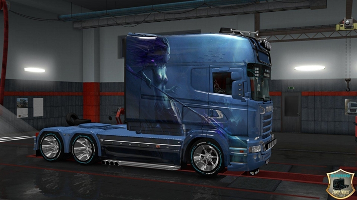 Photo of ETS 2 – Skin Mermaid for Rs Scania Longline & Scania T Longline (1.30.X)