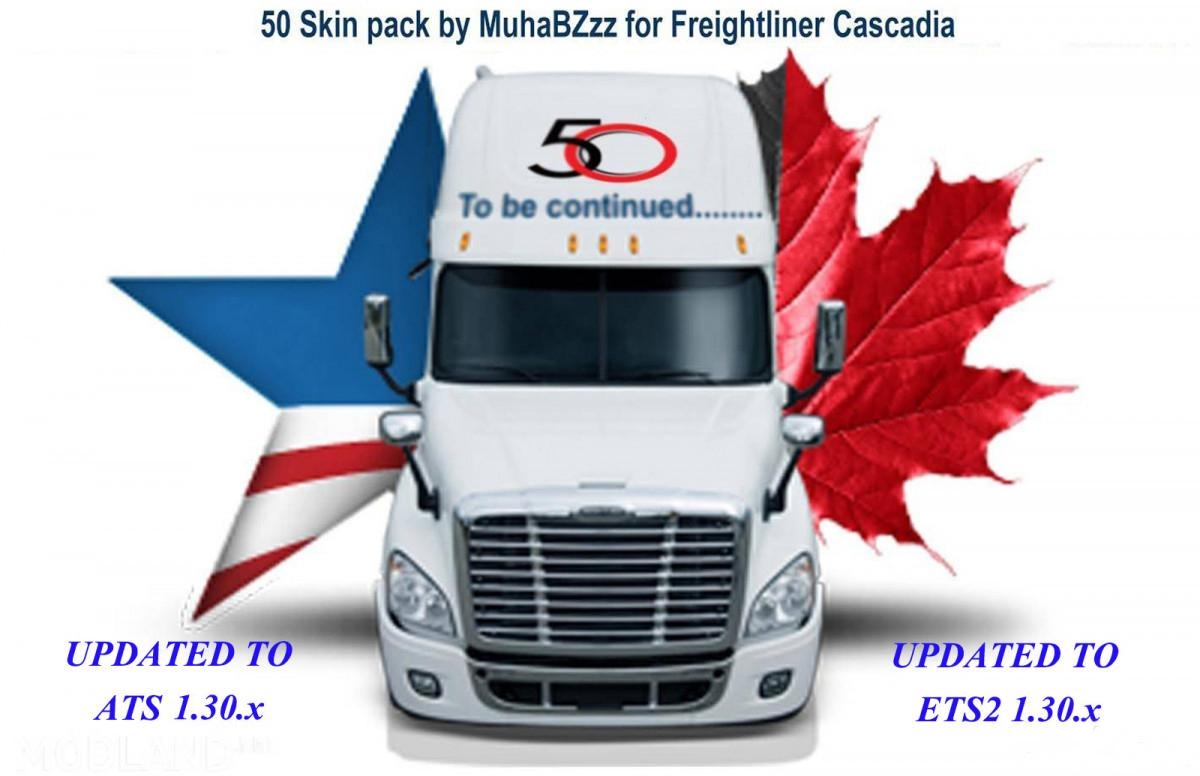 Photo of ATS – 50 Skins Pack for Freightliner Cascadia (1.30.x)