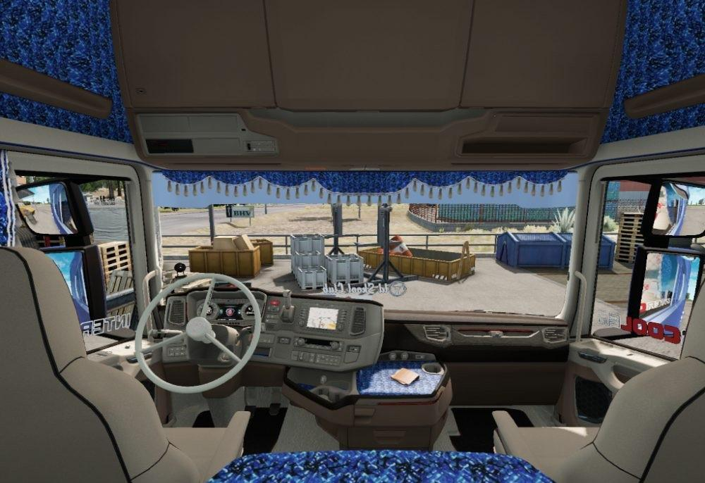 Photo of ETS2 – Blue Danish Interior for Scania New Generation V1.0 (1.30.x)