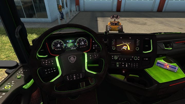 Photo of ETS 2 – Scania 2016 Interior Lime Toxic (1.30.X)