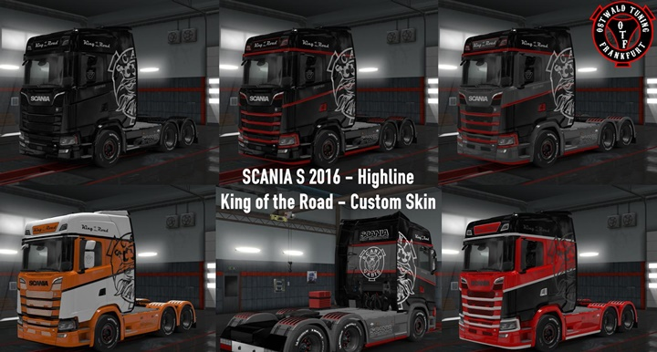 Photo of ETS 2 – Scania S King of the Road Custom Skin (1.30.X)