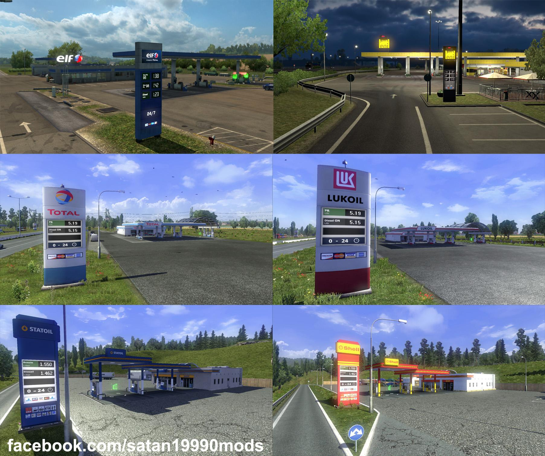 Photo of ETS2 – Real Gas Station Logo V1.0 (1.30.x)