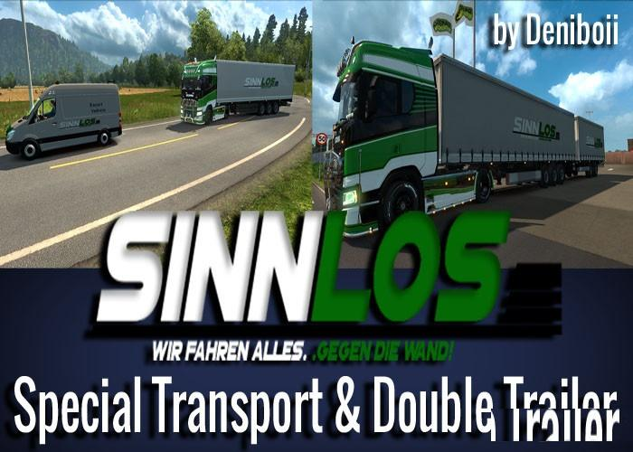 Photo of ETS2 – Sinnlos Special Double Trailer by Deniboii (1.30.x)