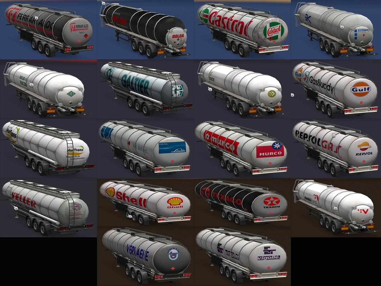 Photo of ETS2 – Tank Trailers, Real Companies All Versions (1.30.x)