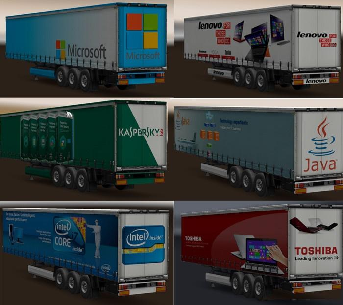 Photo of ETS2 – Technology Companies Trailer Pack V1.0 (1.30.x)