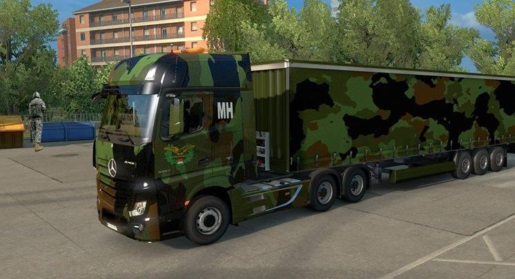 Photo of ETS2- Mh Military Trucks and Trailers V1.0 (1.30.x)