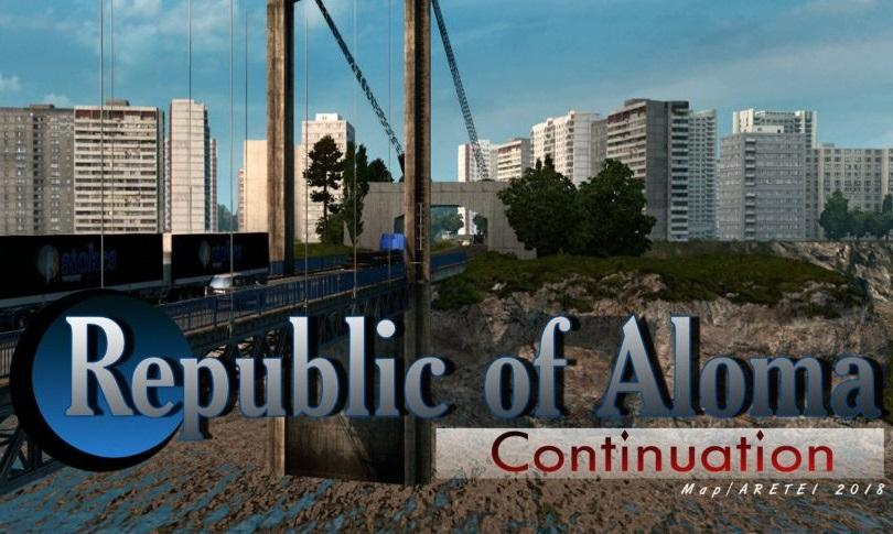 Photo of ETS2 – Republic of Aloma/Continuation Map V1.0 (1.30.x)