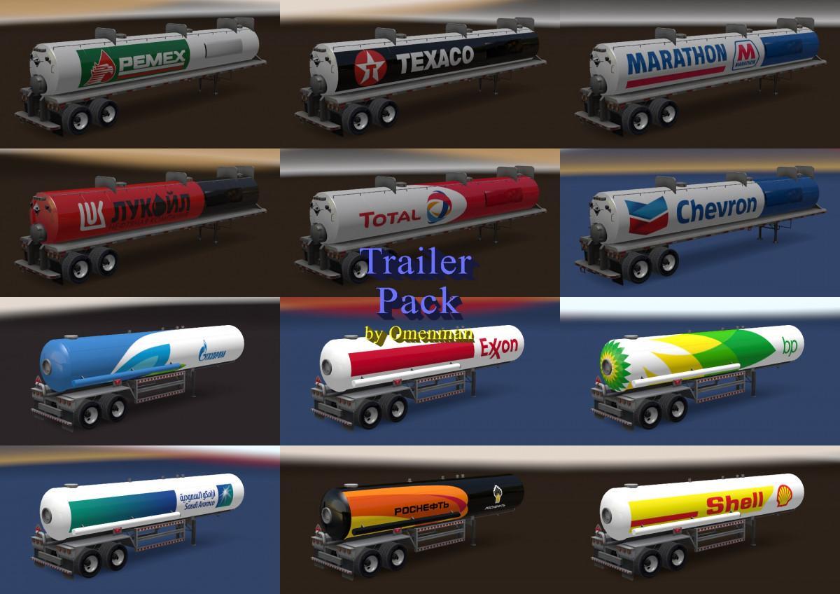ATS - Trailer Pack Fuel V2 0 [1 30 x] | Truck Simulator Mods