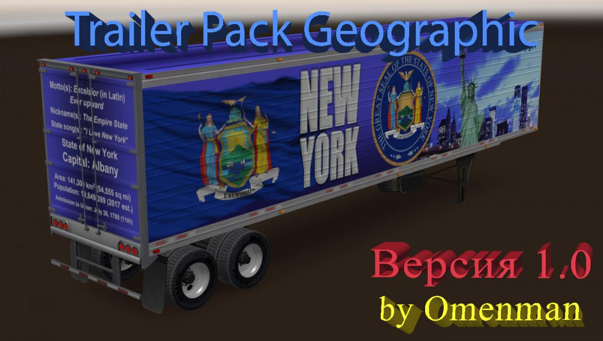 ATS - Trailer Pack Geographic V1 0 (1 30 x) | Truck