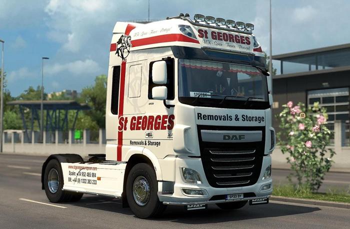 ETS2 - Skin St  Georges Removals for Daf Euro 6 (1 30 x