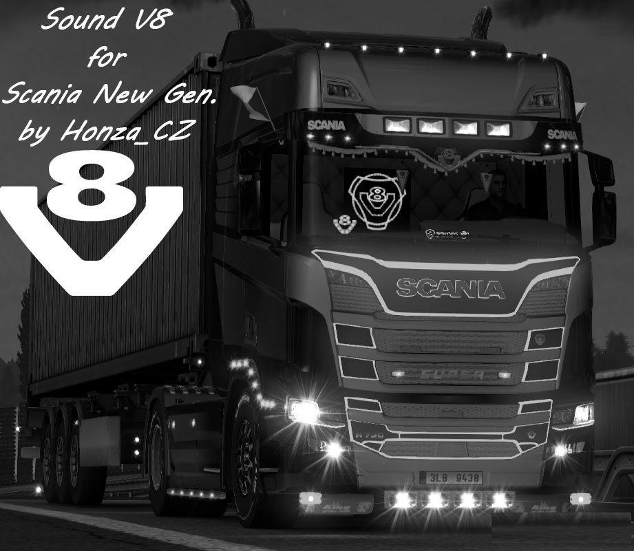 ETS2 - Sound V8 for Scania New Gen V1 0 (1 30 x) | Truck