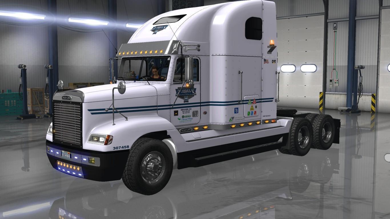 Photo of ATS – Uncle D Logistics Vtc Freightliner Fld V2.0 Only Skin V1.0 (1.30.x)