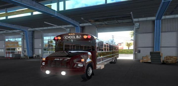 Photo of ATS – Freightliner F65 Or The Legendary School Bus V1.1 (1.30.x)