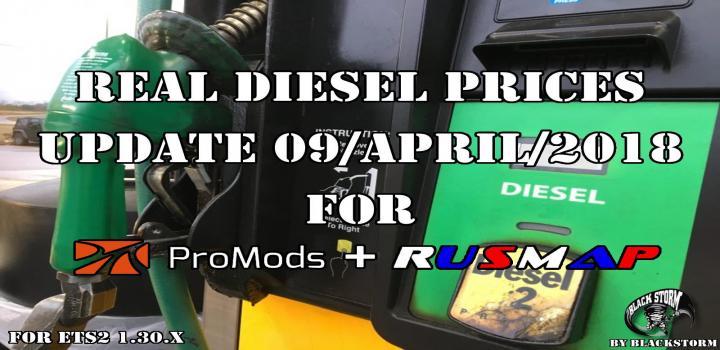ETS2 - Real Diesel Prices Promods Map 2 26 & Rusmap V1 8