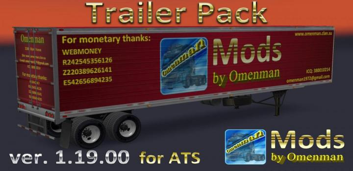 Photo of ATS – Trailer Pack By Omenman V1.19.00 (Rus + Eng Versions) 1.31.x