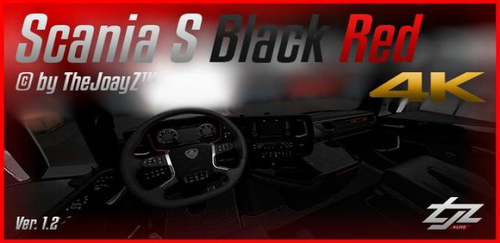 Photo of ETS2 – 4K Scania S V8 Black Red Mod V1.2 1.31.x
