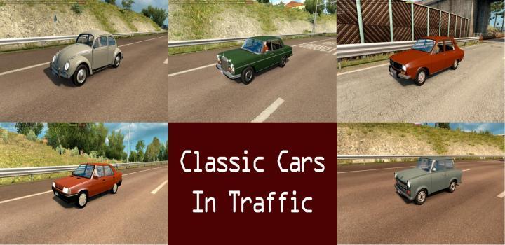 ETS2 - Classic Cars Traffic Pack By Trafficmaniac V1 0 (1 31