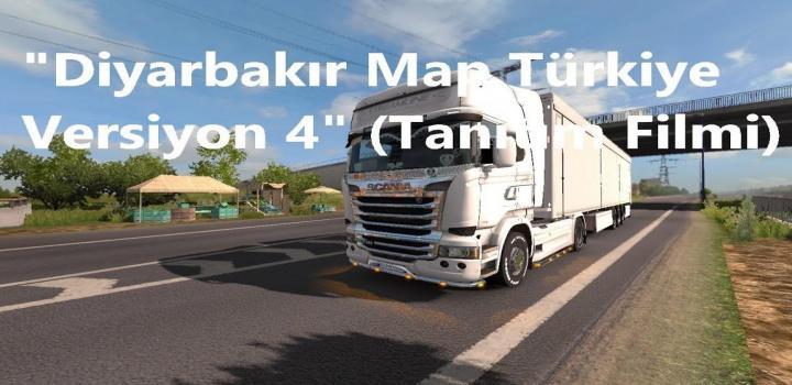 ETS2 - Diyarbakir Map Turkiye V4 0 | Truck Simulator Mods