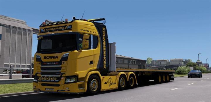 ETS2 - Scania S730 Krommenhoek Skin V1 0 (1 32 X) | Truck