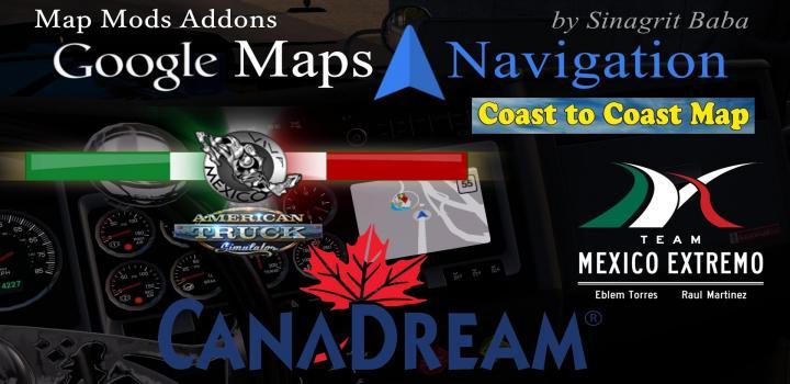 Photo of ATS – Google Maps Navigation Normal & Night Map Mods Addons (1.32.x)