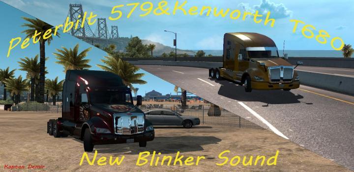 Photo of ATS – Peterbilt 579 & Kw T610 New Blinker Sound V1 (1.32.x)